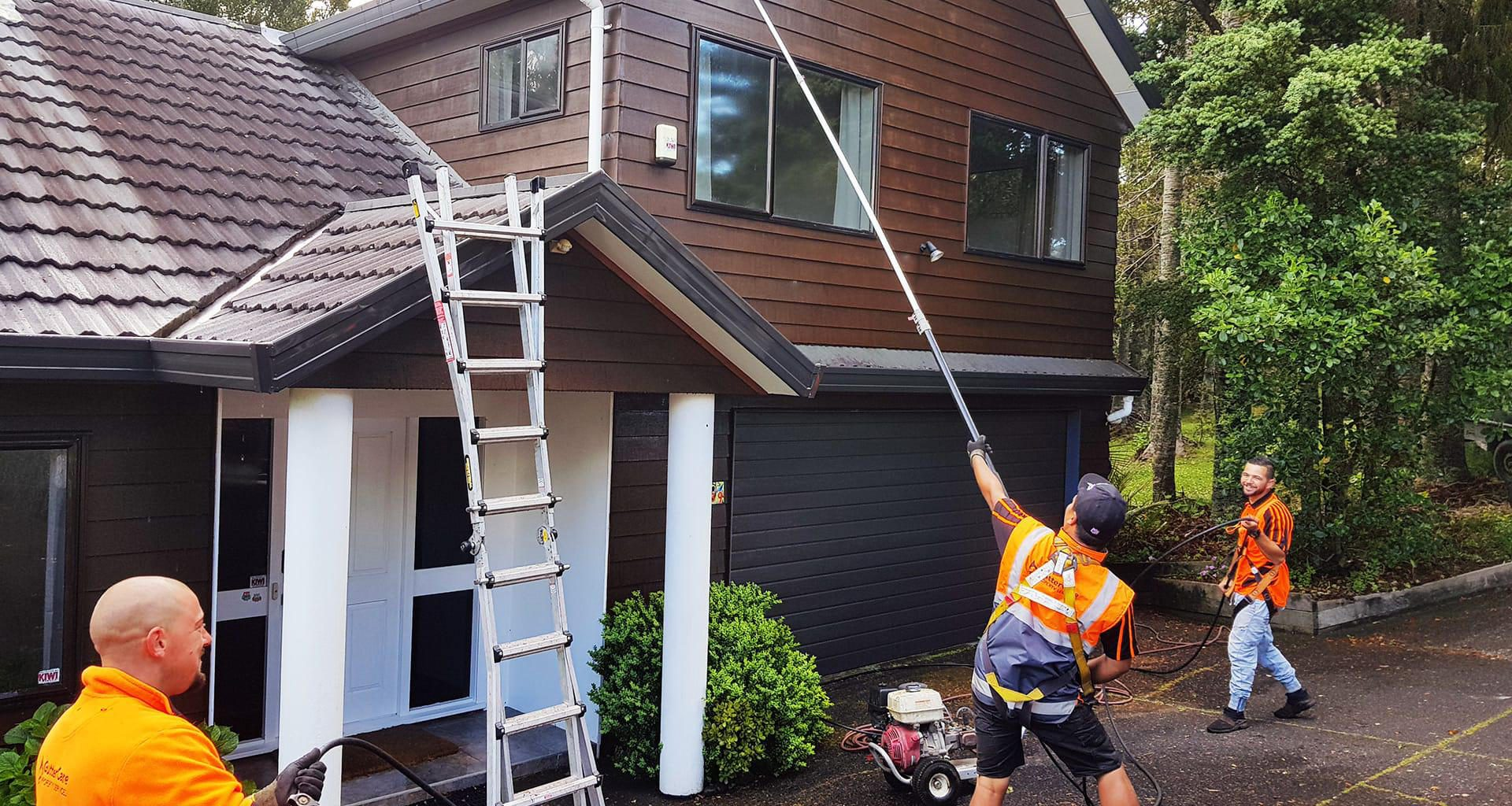 Gutter Cleaning Roof Cleaning House Washing